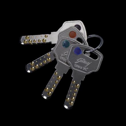 Colour button on keys